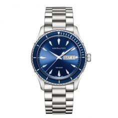 Hamilton is the leading brand for automatic watches in the price segment 500 - 2000 USD. The Hamilton watches combine the American Spirit with the Swiss precision and latest technologies. Gents Watches, Seiko Watches, Watches For Men, Hamilton Jazzmaster, Watches Online, Automatic Watch, Stainless Steel Bracelet, Omega Watch, Accessories