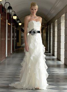 wedding romance | Romantic wedding dresses gain fabulous mix with pretty sash.