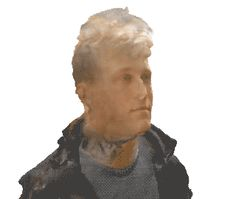 The result of a semi-successful 3D scan of my friend. It's pretty rough in some places and will need a lot of manual tweaking, but some pretty exciting stuff!! This was created using my cell phone and free computer programs. Check [this link] to try it out yourself!