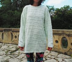 olive knit vintage sweater