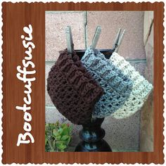 Crochet+boot+cuffs+Packaged+for+gift+giving++by+BootcuffSusie,+$9.95