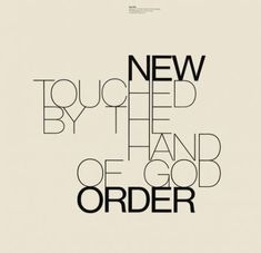 Album cover by the English graphic designer Peter Saville. New order - touched by the hand of god. Peter Saville, Typography Inspiration, Graphic Design Inspiration, Music Covers, Album Covers, Stefan Sagmeister, Grid, Album Cover Design, Editorial