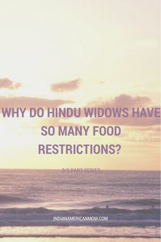 hindu widow and their food restrictions