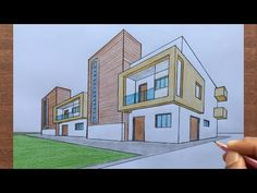 How to Draw a House using 2-Point Perspective Step by Step - YouTube New Classical Architecture, Interior Architecture Drawing, Architecture Drawing Sketchbooks, Architecture Concept Drawings, Colour Architecture, Dream House Drawing, House Design Drawing, Perspective Isométrique, 2 Point Perspective Drawing