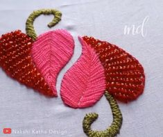 Latest Cost-Free Embroidery Designs with beads Strategies Adornments is often a attractive way to light up your house plus a terrific interest to be able to spend doin Embroidery Hearts, Hand Embroidery Videos, Embroidery Stitches Tutorial, Hand Embroidery Flowers, Hand Work Embroidery, Flower Embroidery Designs, Creative Embroidery, Learn Embroidery, Silk Ribbon Embroidery