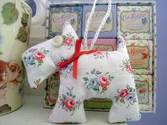 Scottie Dog decoration made in Cath Kidston fabric
