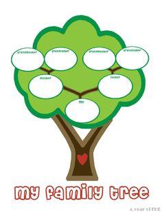 preschool family tree template