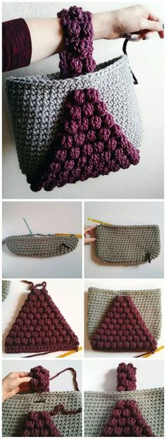 sc [sc Let's learn to crochet bobble handbag [Tote]. This handbag combines several most popular crochet techniques including my favorite bobble stitch and as you can see, it looks simply gorgeous. The result is an alluring project that… Continue Reading → Poncho Au Crochet, Crochet Shell Stitch, Bobble Stitch, Crochet Baby, Knit Crochet, Free Crochet Bag, Chunky Crochet, Crochet Beanie, Purse Patterns
