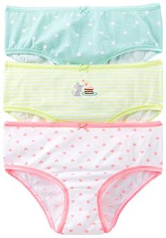 Carter's Little Girls' 3 Pack Panties (Toddler/Kid) Brief - girls Little Girl Bikini, Bikini Girls, S Girls, Little Girls, Kids Geo, Girls In Panties, Baby Wearing, Latest Fashion Trends, Toddler Girl