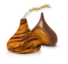Caramel Hershey's Kisses - The luscious caramel and smooth chocolate creates a taste combination you'll want to experience again and again.  #LoveandKisses #HersheysKisses