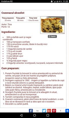 Cozonacul alcoolist. Food And Drink, Recipes, Sweets, Pie, Recipies, Ripped Recipes, Recipe, Cooking Recipes