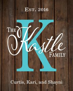 Personalized or Custom Family Name Sign Monogram - Rustic Wood Sign or Canvas Wall Hanging - Wedding, Anniversary Gift, Housewarming by HeartlandSigns on Etsy