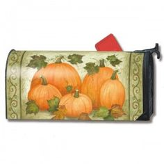 MailWraps Magnetic Mailbox Cover - Simply Pumpkins
