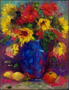 Bistro Bouquet,, 12x16, painting by artist Maryanne Jacobsen