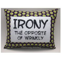 Funny Cross Stitch Pillow...