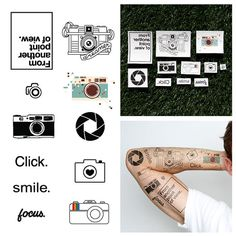 Say Cheese  Temporary Tattoo Set of 22 by Tattify on Etsy, $15.00