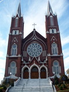 Macon, Georgia My old church. Old Country Churches, Old Churches, Church Architecture, Beautiful Architecture, Macon Georgia, Georgia Usa, St Joseph Catholic, Cathedral Church, Church Building