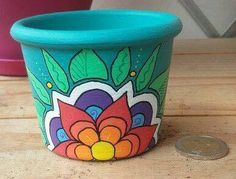 ideas painting flower pots ideas design for 2019 Clay Pot Crafts, Fun Crafts, Diy And Crafts, Painted Plant Pots, Painted Flower Pots, Deco Floral, Pottery Painting, Terracotta Pots, Garden Crafts
