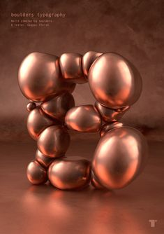 Copper boulders on Behance