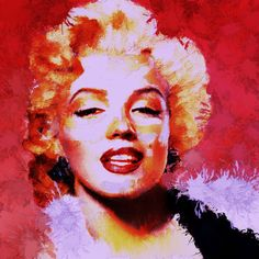 """Marilyn Art  Artist RobinPanzer     """"Feeling Pink""""    Marilyn Monroe"""