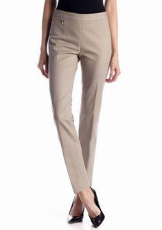 Jones New York Signature  Petite Narrow Zip Pocket Pant