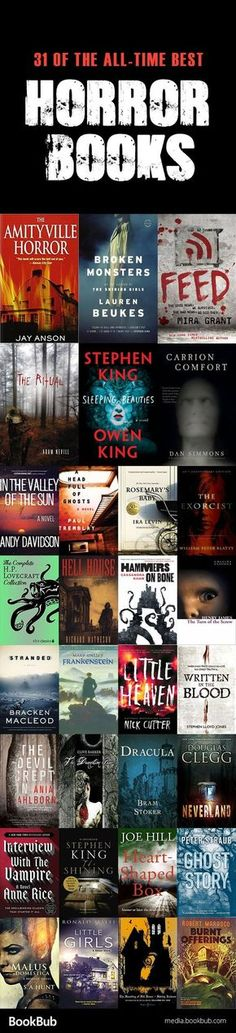 31 of the best horror books for Halloween, featuring Halloween books to read for adults. These spooky stories have suspense, mystery, twists, and more.