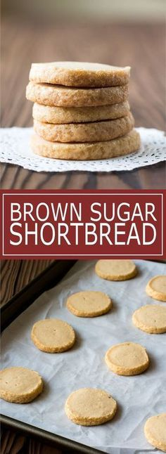 Brown Sugar Shortbread - perfectly crisp cookies with notes of caramel Kitchen Gidget Cookie Desserts, Just Desserts, Cookie Recipes, Delicious Desserts, Dessert Recipes, Refrigerator Cookies Recipes, Cookie Cups, No Bake Cookies, Cookies Et Biscuits