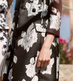 A close up view of our elegant Resort 2016 Macro Floral pattern.