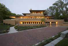 Replica of Frank Lloyd Wright's Robie House For Sale in Palos Park