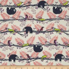 Designed by Rashida Coleman-Hale for Cotton + Steel, this cotton print fabric is perfect for quilting, apparel and home decor accents. Colors include shades of tan, black, red, magenta and lime green.