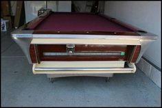 Vintage S Fischer Pool Table Garys Swanky Basement - Fischer pool table