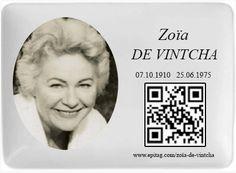 Plaque QR Code funéraire avec photo en porcelaine 11 x 15 cm  www.epitag.com/...  #funeraire #qrcode #plaque_qrcode #russie #cimetiere