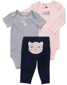 AIKSSOO Toddler Baby Girls Kitten Pattern Cotton Thick Leggings Pants