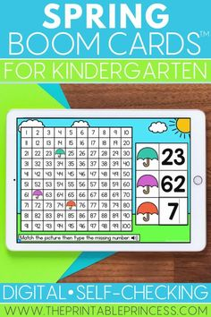 Spring into learning with this engaging, fun, spring-themed Boom Card math and literacy resource for kindergarten. These digital task cards are great for learning at home or at school. Use them as reinforcement during distance learning or as a technology center in the classroom as students practice sight word sentences, CCVC, digraphs, blends, number lines, addition and subtraction word problems and more!