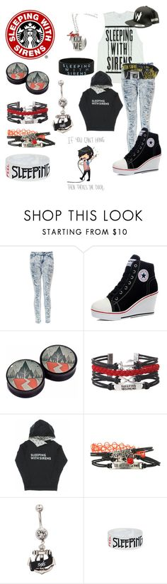 """""""Sleeping With Sirens"""" by ed-ward-scissorhands ❤ liked on Polyvore featuring Hot Topic and Boohoo"""