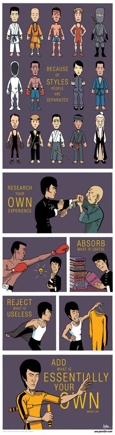 Bruce Lee, by zenpencils.com