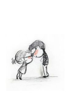 """This drawing is named """"Clink"""" - but for my son - it's Clunk.  This is how he says """"I love you"""".  by #lepetitelefant"""