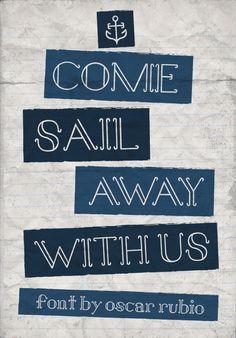Sail Away // Free Font // A nautical themed type.