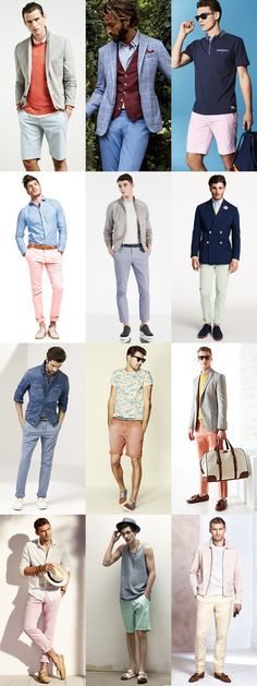 Pastel Legwear (Shorts and Trousers) - Spring/Summer Outfit Inspiration Lookbook