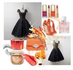 """Dressywomen#6"" by merima-musanovic ❤ liked on Polyvore featuring JustFab, Valentino, Oscar de la Renta, LULUS, Dolce&Gabbana, Jimmy Choo, Trish McEvoy, Urban Decay, Prom and dress"
