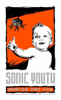 Awesome Concert Posters | C3 Concerts » Poster: Sonic Youth, Awesome Color at Stubb's (2006 ...