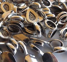 100 Medium Silver Plated Glue on Bails by deannasscrapbooking, $14.00
