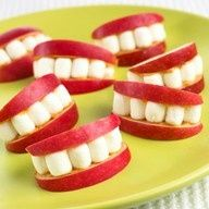 marshmellows, apple slices, and peanut butter #school  #food #ideas #recipes