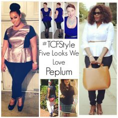 Peplum gives any figure that ever so desired hourglass figure. What's not to love about peplum??