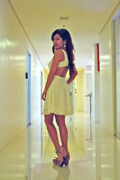 The Demure (or not) #White #Sundress. More at http://www.reluctantstylista.com.