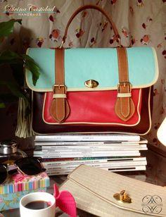 School Bag en coral x menta by DCH