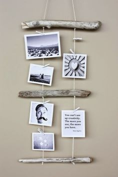 Simpler than pie DIY drift wood string picture display