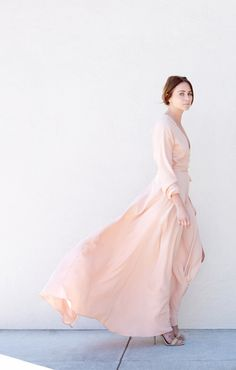Get swept away with a rose quartz dress for the less traditional wedding day look.