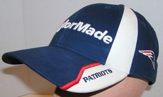New England Patriots NFL Football 2012 TaylorMade Golf Tmax gear Strapback Hat Strapback Hats, Hats For Sale, Taylormade, New England Patriots, Nfl Football, Gears, Golf, Fashion, Moda