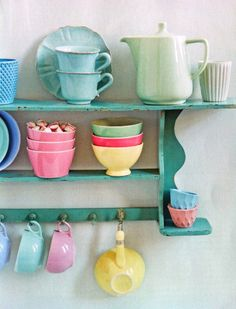 All Things Shabby and Beautiful Shabby Chic Decor, Boho Decor, Cubby Houses, Happy Kitchen, Pretty Pastel, Kitchen Dining, Dining Room, Kitchen Decor, Vintage Kitchen